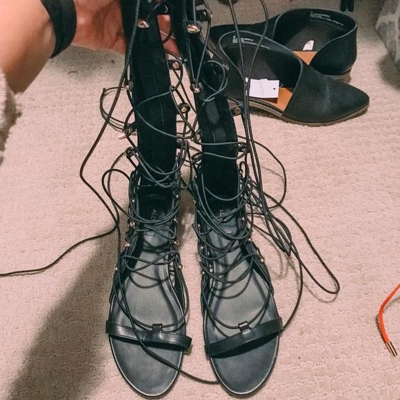 Aldo Shoes - Black gladiator sandal 78a6c50d0b1d